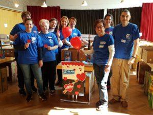Das Team von Plan International Frankfurt beim Bücherbasar Oberrad
